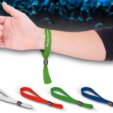 Material wristbands for events
