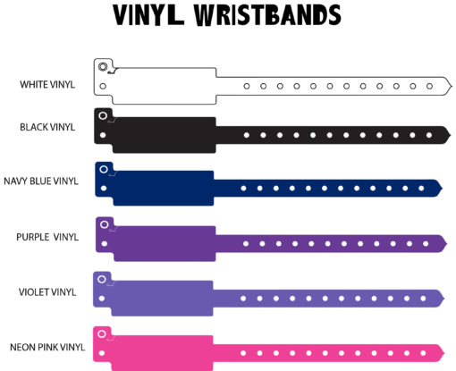 Available vinyl wristbands