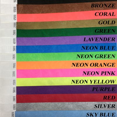Code on wristbands example
