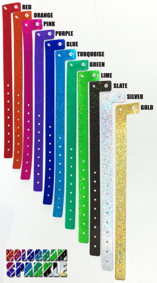 Holographic sparkle wristbands